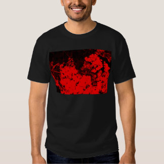 Red Abstract T Shirt