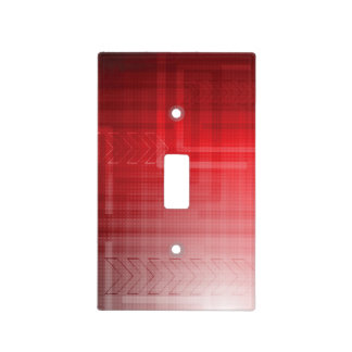 Red Abstract Tech Print Light Switch Cover