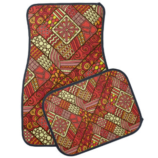 Red abstract tribal aztec pattern auto mat