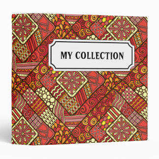 Red abstract tribal aztec pattern binder