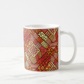 Red abstract tribal aztec pattern coffee mug
