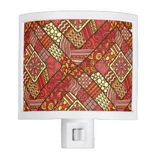 Red abstract tribal aztec pattern nite lites