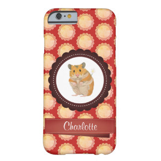 Red Add Your Name Hamster Barely There iPhone 6 Case