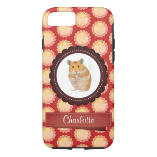 Red Add Your Name Hamster iPhone 8/7 Case