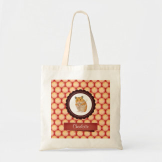 Red Add Your Name Hamster Tote Bag