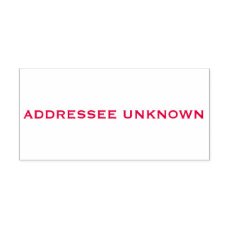 Red Addressee Unknown Self-inking Stamp