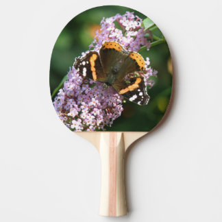 Red Admiral Butterfly and Buddleia Ping Pong Ping Pong Paddle