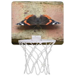Red Admiral Butterfly Basketball Hoop