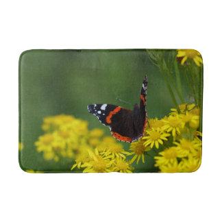 Red Admiral Butterfly Bath Mat