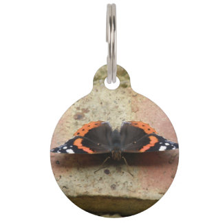 Red Admiral Butterfly Custom Dog Tag