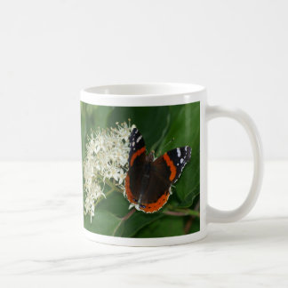 Red Admiral Butterfly Mug