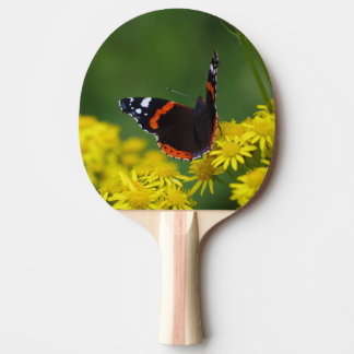 Red Admiral Butterfly Ping Pong Bat Ping-Pong Paddle