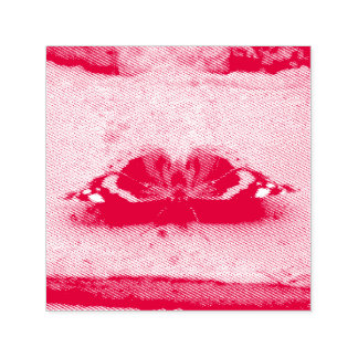Red Admiral Butterfly Self Inking Stamp