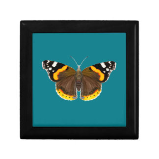 Red Admiral Butterfly Watercolor Painting Artwork Gift Box