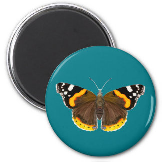 Red Admiral Butterfly Watercolor Painting Artwork Magnet