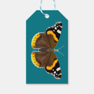 Red Admiral Butterfly Watercolor Painting Artwork Pack Of Gift Tags