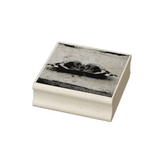 Red Admiral Butterfly Wood Art Stamp