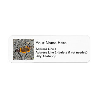 Red Admiral Return Address Label