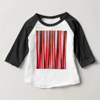 Red Adventure Striped Abstract Pattern Baby T-Shirt
