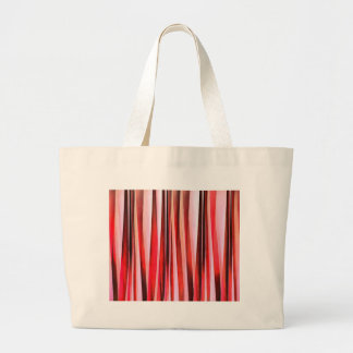 Red Adventure Striped Abstract Pattern Large Tote Bag