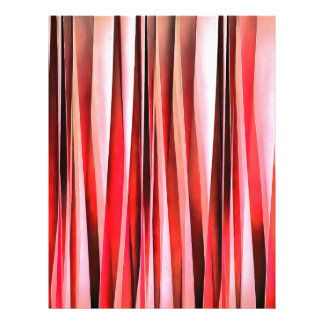 Red Adventure Striped Abstract Pattern Letterhead