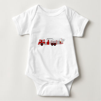 Red Aerial Scope Custom Fire Truck Design Baby Bodysuit