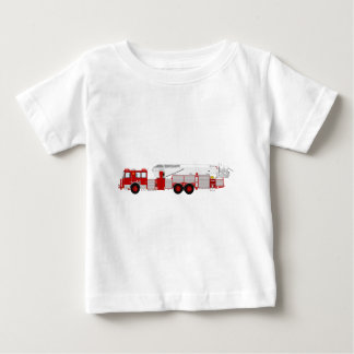 Red Aerial Scope Custom Fire Truck Design Baby T-Shirt