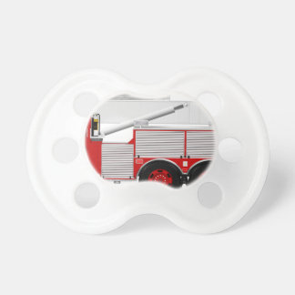 Red Aerial Scope Custom Fire Truck Design Pacifiers