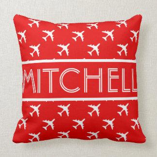 Red Aero BOF Personalized Throw Pillow