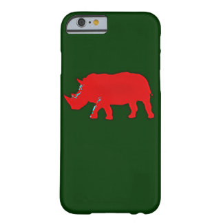 red africa rhinocerus barely there iPhone 6 case