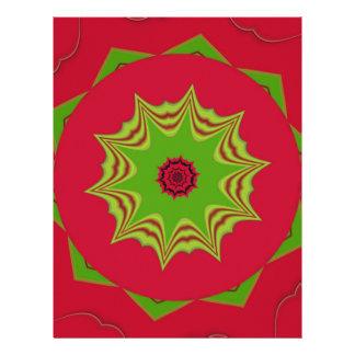 red African ethnic tribal pattern Custom Letterhead