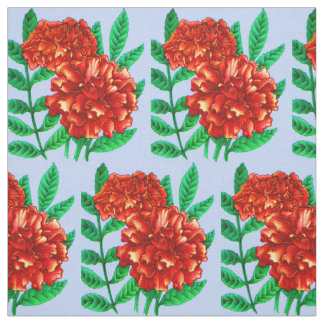 red African marigolds floral print Fabric
