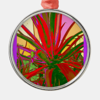 Red Agave Southwest Desert Design Gifts by Sharles Silver-Colored Round Ornament
