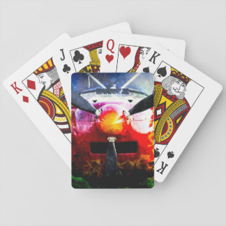Red Aircraft - Small But Fierce Poker Deck