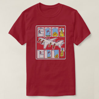 Red Airline Emergency Safety Card T-Shirt