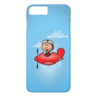 Red airplane iPhone 7 plus case