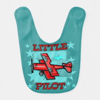 Red Airplane Little Pilot Bib