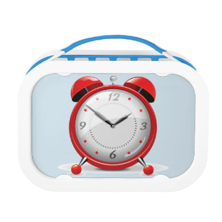 Red Alarm Clock Lunch Box