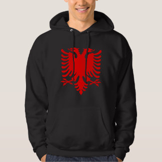 Red Albanian Eagle Hoodie