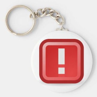 Red Alert Basic Round Button Keychain