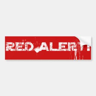 Red Alert!   Classic Bumper Sticker