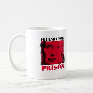 Red Alert - Hillary for Prison - - Anti-Hillary -. Coffee Mug