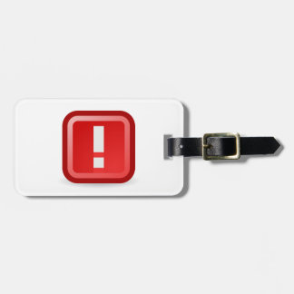 Red Alert Luggage Tag