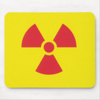 RED ALERT RADIATION WARNING! MOUSE PAD