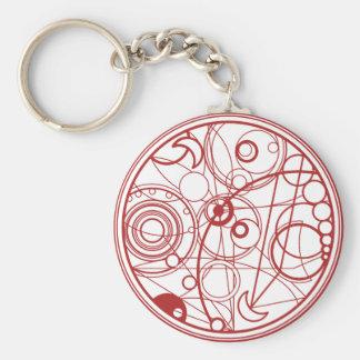 Red Alien Design Basic Round Button Keychain
