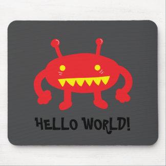 Red Alien Mousepad