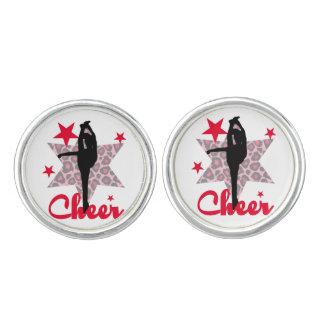 Red Allstar Cheerleader Cuff Links
