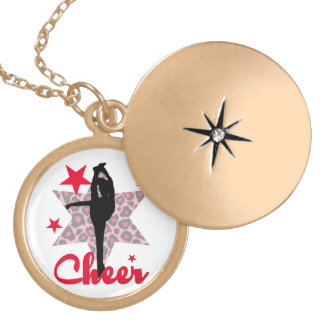 Red Allstar Cheerleader Gold Plated Necklace