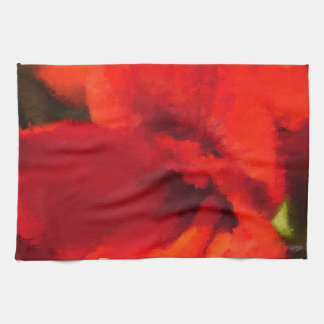Red Amaryllis Artistic Towel