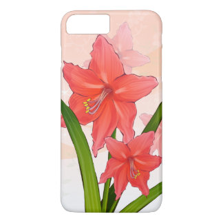 Red Amaryllis Flowers iPhone 7 Plus Case